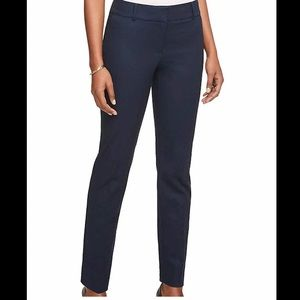 Ann Taylor navy straight leg crop pant 2P